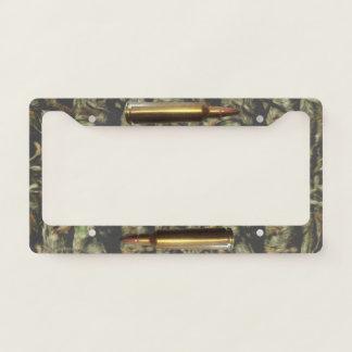 Gun Ammo Bullet Camo Pattern Holder Licence Plate Frame