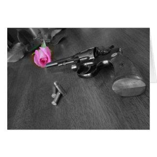 Gun and Rose Card