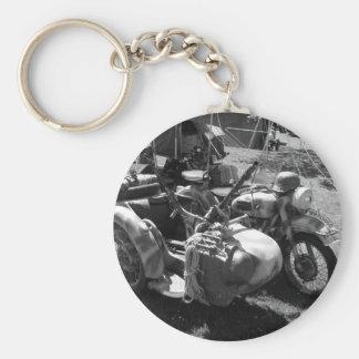 Gun carrying sidecar basic round button key ring