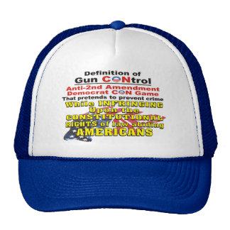 Gun Control Anti Second Amendment Democrat CON Hat