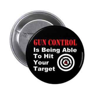 Gun Control Black 6 Cm Round Badge