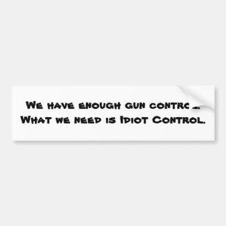 """""""Gun Control"""" Bumper Sticker"""