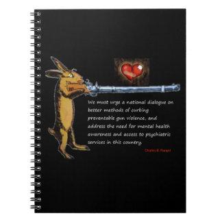 Gun Control - Charles B. Rangel Quote Notebook