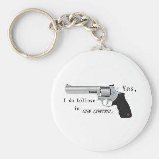 Gun Control Keychain