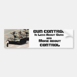 Gun Control...More about control Bumper Sticker
