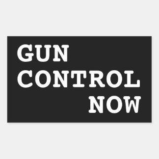 Gun Control Now, custom background color Rectangular Sticker