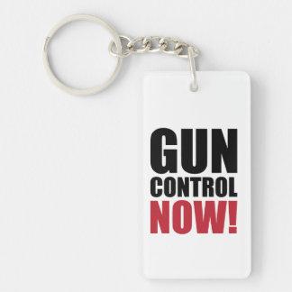 Gun control now Single-Sided rectangular acrylic key ring