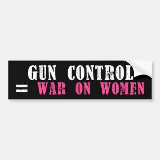 Gun Control = War on Women Bumper Sticker