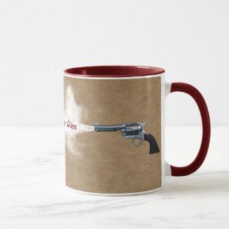Gun Fight at the Coffee House Mug