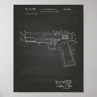 Gun Head Space 1968 Patent Art Chalkboard Poster