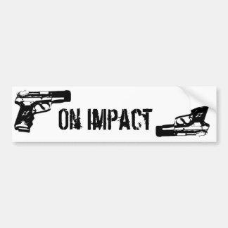 Gun logo bumper sticker