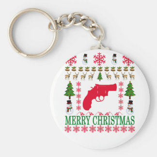GUN MERRY CHRISTMAS . KEY RING