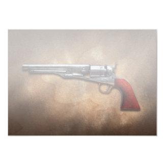 "Gun - Model 1860 Army Revolver 5"" X 7"" Invitation Card"