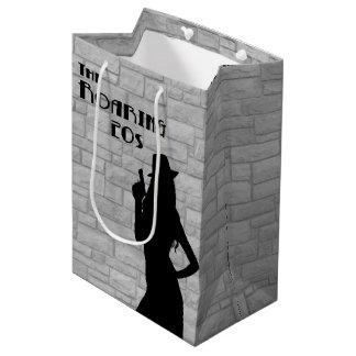 Gun Moll Silhouette Medium Gift Bag