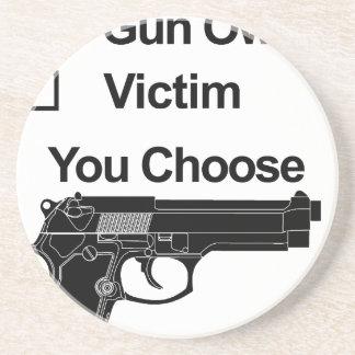 gun owner victim you choose coaster