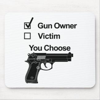 gun owner victim you choose mouse pad
