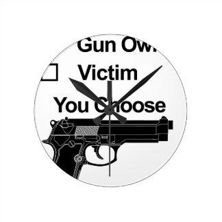 gun owner victim you choose round clock