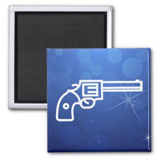 Gun Pistols Graphic Square Magnet