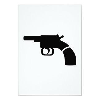 Gun revolver custom invitations