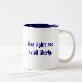 Gun rights are a civil liberty. Two-Tone mug