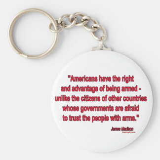 Gun Rights by James Madison Key Chain