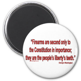 Gun Rights - Geo. Washington 6 Cm Round Magnet