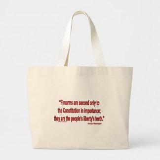Gun Rights - Geo. Washington Large Tote Bag