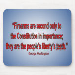 Gun Rights - George Washington Mouse Pad