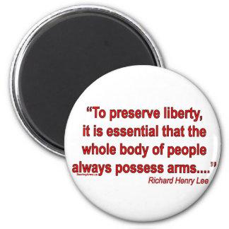 Gun Rights - Richard Henry Lee Fridge Magnet