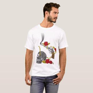 Gun Roses Skull Gothic Fantasy T-Shirt