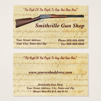 Gun Shop Collector Business Card