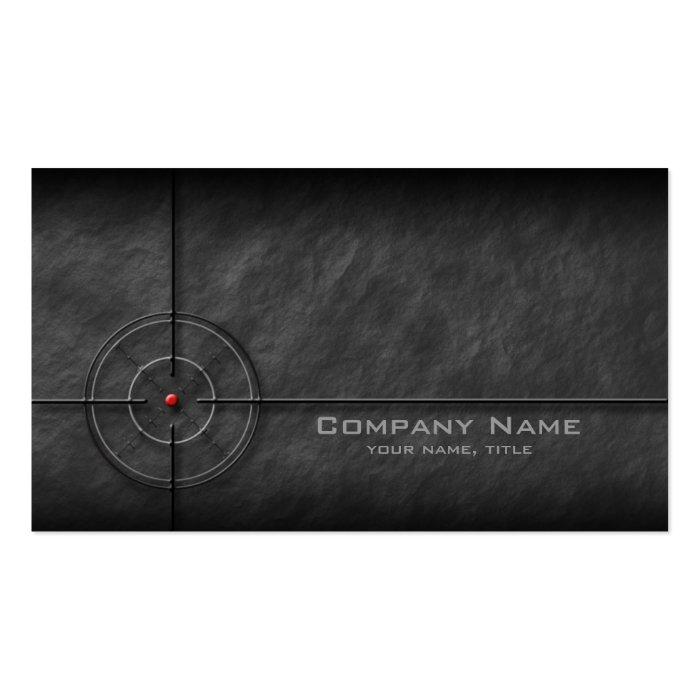 Gun shop target business card zazzle for Target business cards