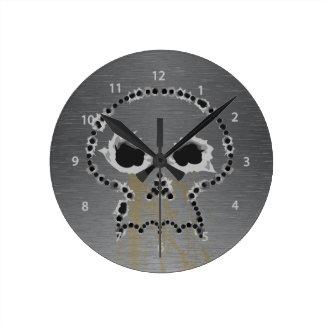 Gun Shots Holes Skull Wall Clock