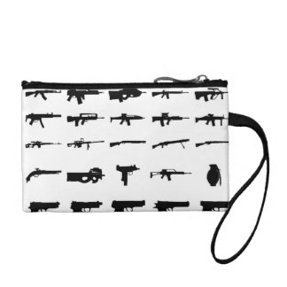 Gun Silhouette Coin Clutch Coin Wallets