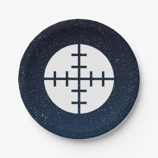 Gun Targets Pictograph 7 Inch Paper Plate