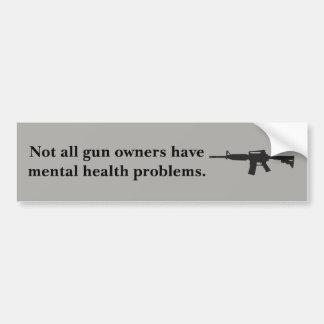 Gun violence bumper sticker