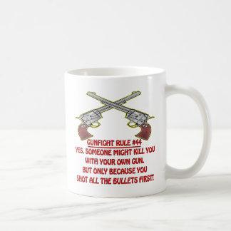 Gunfight Rule #44 Kill You With Your Empty Gun Basic White Mug