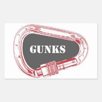 Gunks Climbing Carabiner Rectangular Sticker
