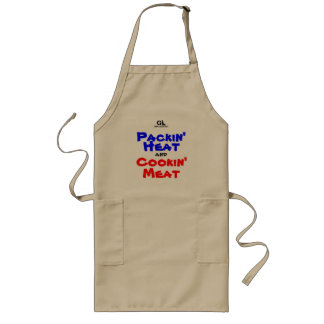 GunLink Packin' Heat and Cookin' Meat BBQ Apron