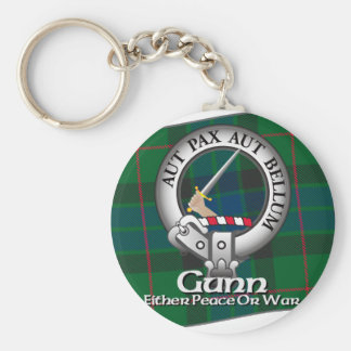 Gunn Clan Basic Round Button Key Ring