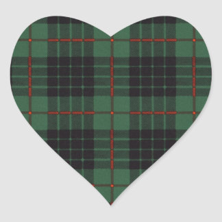 Gunn clan Plaid Scottish tartan Heart Sticker
