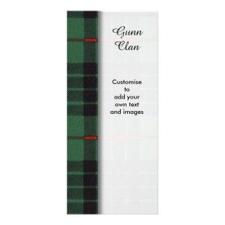 Gunn clan Plaid Scottish tartan Customized Rack Card