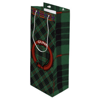 Gunn clan Plaid Scottish tartan Wine Gift Bag
