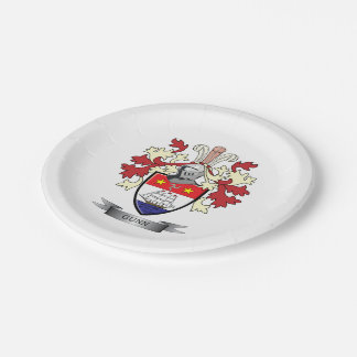 Gunn Family Crest Coat of Arms 7 Inch Paper Plate