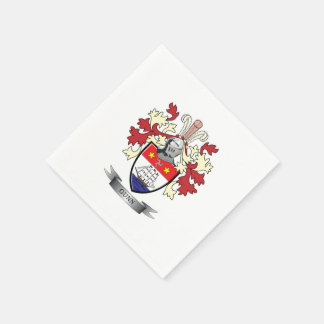 Gunn Family Crest Coat of Arms Disposable Napkins