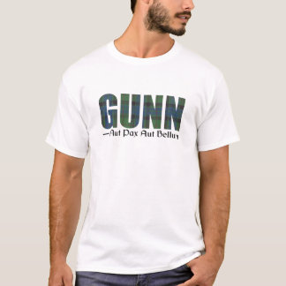 Gunn Scottish Clan Tartan Name Motto T-Shirt