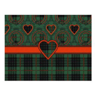 Gunn Scottish Tartan Postcard