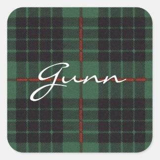 Gunn Scottish Tartan Square Sticker