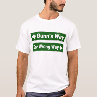 Gunn's Way Street Sign Clan Shirt