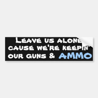 Guns & Ammo Bumper Stickers